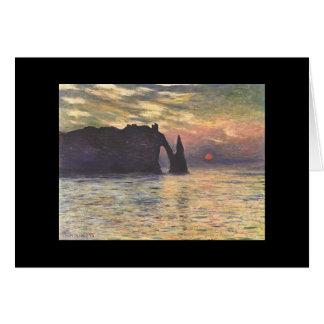 Cartes Belle baie rocheuse - Monet