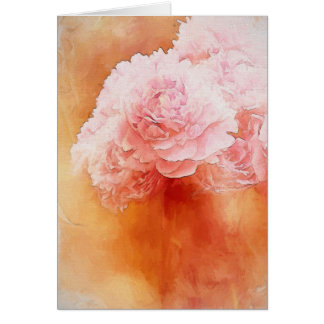 Cartes Belle peinture de rougissement de bouquet de