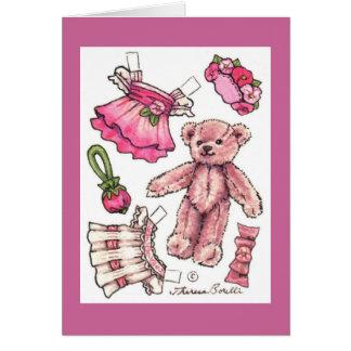 Cartes Belle poupée de papier d'anniversaire