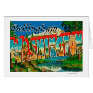 Cartes Bellingham, Washington - grandes scènes de lettre