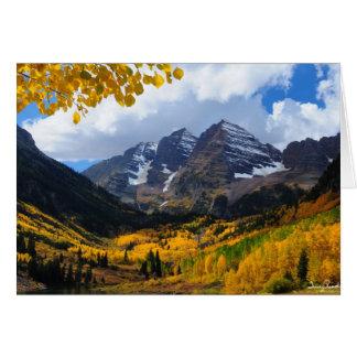 Cartes Bells marron en or d'automne