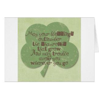 Cartes Bénédiction de jour de St Patricks
