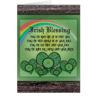 Cartes Bénédiction irlandaise