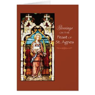 Cartes Bénédictions de jour de fête de St Agnès