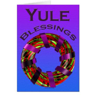 Cartes Bénédictions de Noël - guirlande