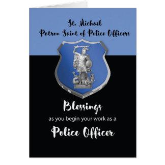 Cartes Bénédictions de St Michael au nouveau policier