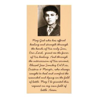 Cartes bénies de prière de canonisation de Jose Sa Photocarte Personnalisée