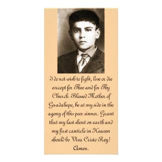 Cartes bénies de prière de Jose Sanchez Modèle Pour Photocarte