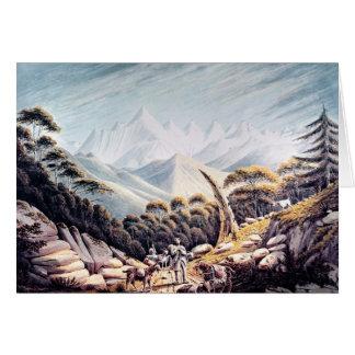 Cartes Bergers népalais en Himalaya, 1826