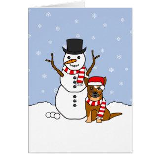 Cartes Bétail australiens chien et bonhomme de neige