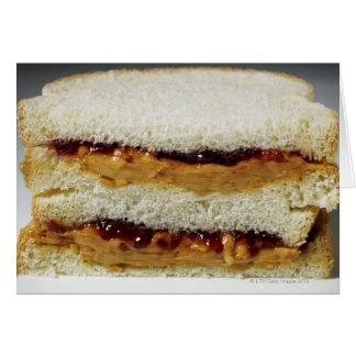 Cartes Beurre d'arachide et sandwich à gelée