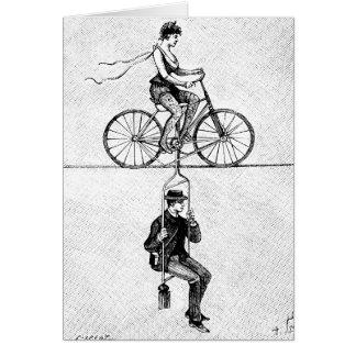 Cartes Bicyclette de corde raide - acte de recyclage de