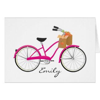 Cartes Bicyclette de roses indien avec des oranges