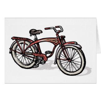 Cartes Bicyclette fantôme rouge de Schwinn