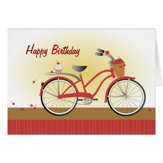 Cartes Bicyclette gaie de cerise
