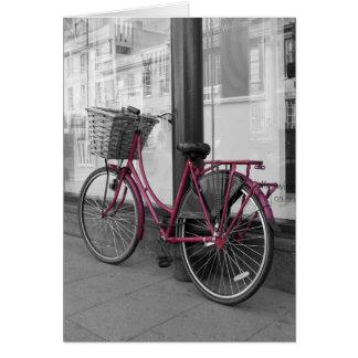Cartes Bicyclette rose