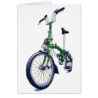 Cartes Bicyclette verte de Brompton