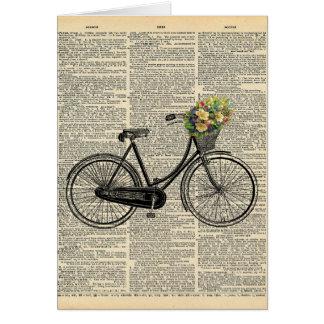 Cartes Bicyclette vintage d'art de dictionnaire avec des