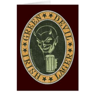 Cartes Bière blonde allemande verte de diable