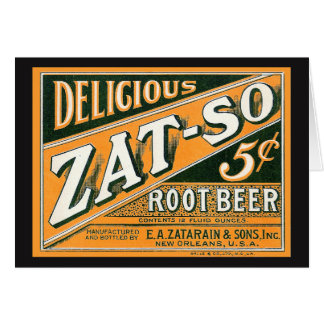 Cartes Bière de racine de Zat-So 5¢