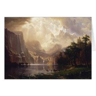 Cartes Bierstadt parmi la sierra montagnes de Nevada