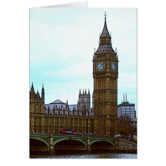 Cartes Big Ben, palais de Westminster, Londres, R-U