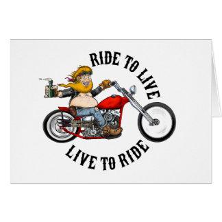 Cartes biker motard ride to live