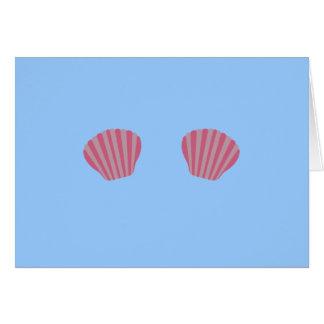 Cartes Bikini rose de sirène