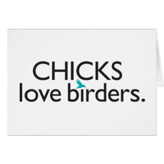 Cartes Birders d'amour de poussins