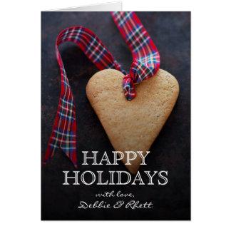 Cartes Biscuit en forme de coeur avec le ruban