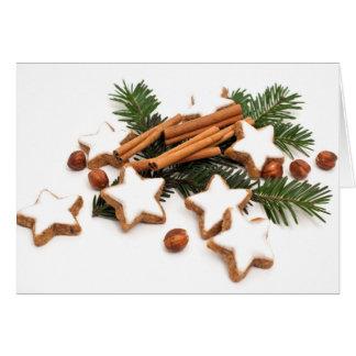 Cartes Biscuits de Noël avec de la cannelle