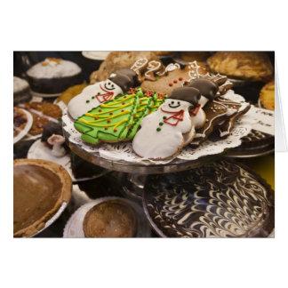 Cartes Biscuits de Noël sur l'affichage à New York City