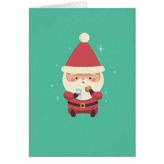 Cartes Biscuits et lait de Père Noël