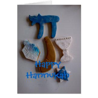 Cartes biscuits juifs de vacances, Hannukah heureux