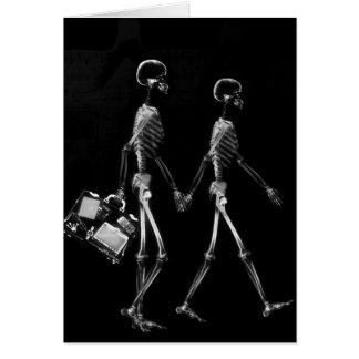 Cartes Blanc noir de déplacement de couples squelettiques