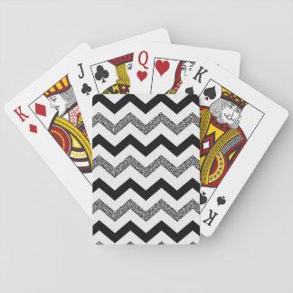 Cartes blanches de Chevron de parties Cartes À Jouer