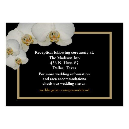 Cartes blanches de clôture d'orchidée carte de visite