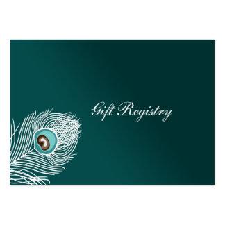 Cartes blanches et turquoises élégantes de liste carte de visite grand format