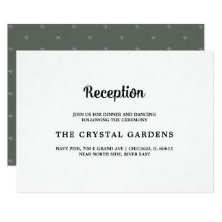 Cartes | blanches vert-foncé de réception de