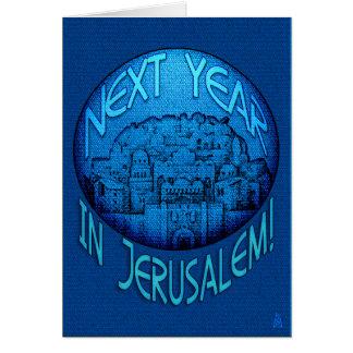 Cartes Bleu de Jérusalem - Rosh Hashanah - personnalisé
