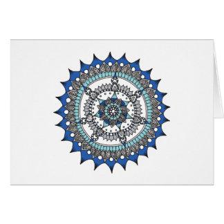 Cartes Bleu de mandala de vacances