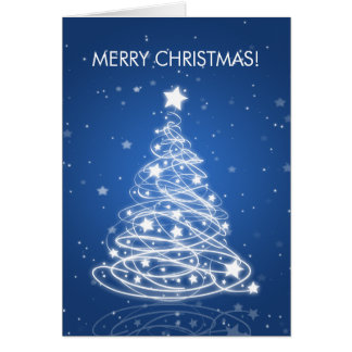Cartes Bleu élégant de mod d'arbre de Joyeux Noël