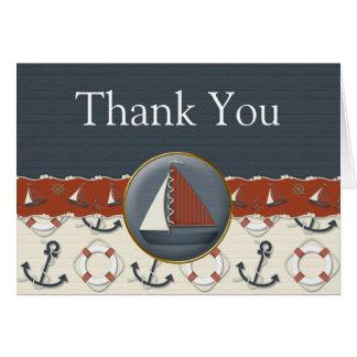 Cartes bleues blanches rouges nautiques de Merci