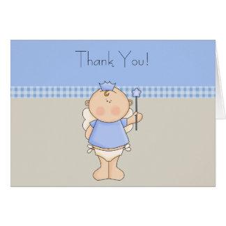 Cartes bleues bronzages de Merci de prince bébé