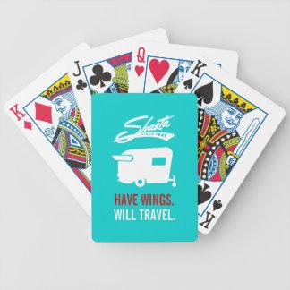 Cartes bleues de camping du campeur rv de Shasta Jeu De Poker