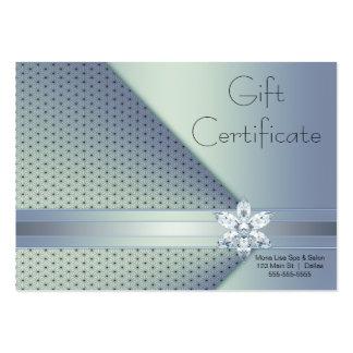 Cartes bleues de certificat-prime d'affaires de di carte de visite grand format