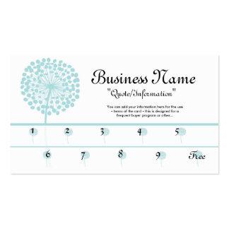 Cartes bleues de fidélité de pissenlit/acheteur carte de visite standard