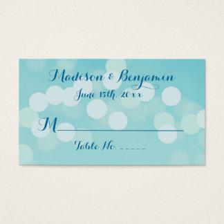 Cartes bleues d'endroit de mariage d'Aqua moderne