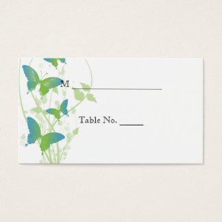 Cartes bleues et vertes d'endroit de mariage de