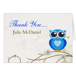 Cartes bleues lunatiques de Merci de hibou